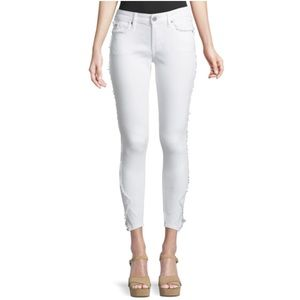 NWT True Religion white jeans curvy skinny Jennie